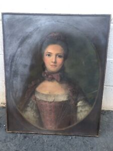 Antique Pastel Portrait J Wells Champney (1843-1903) Provenance 24x29 Painting