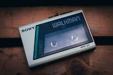 Sony Walkman WM-22 weiß Vintage Stereo Cassette Player 1980s für Audio Kassetten
