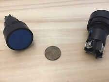 2 Pieces Blue Momentary PUSH BUTTON SWITCH normally open closed 22mm on off A11