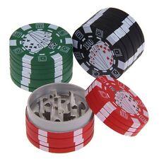 3 Layers Poker Pattern Tobacco Grinder Leaf Herb Smoke Spice Crusher Hand Muller