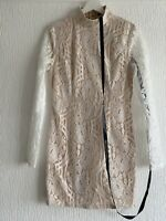 NUDE CREAM LACE DRESS BNWT 10 PLT CLUB PARTY TOWIE PRETTY GLAM CHIC SMART SUMMER