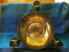 VINTAGE, MARLBORO SILVER PLATE, CENTRE BOWL WITH 3 CANDLE HOLDERS - VGC