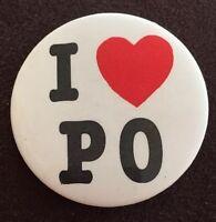 Vintage I Love Philadelphia Orchestra I Heart PO Pinback Button