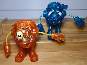 Rare 2002 Hasbro LOOGEEZ Clyde Q Crazy + Morti Fied Action Figures Tiger Toys