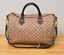 Louis Vuitton LV Speedy 30 Bandouliere in Idylle Canvas Used Authentic