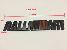 Matte Black Ralliart Metal Trunk Badge Emblem Sticker For Mitsubishi Evo Lancer