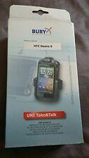 Bury HTC Desire S Cradle Phone Car Holder System 8 Take Talk for Bluetooth New