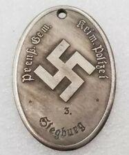 Plaque d'identité de la police insigne allemand ww2
