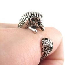 ARMADILLO wrap ring hedgehog mother cute mum gift animal rings her girlfriend