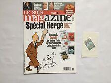TINTIN Magazine Spécial HERGE + timbre COKE EN STOCK - LE SOIR n° 3907 / 100 ans