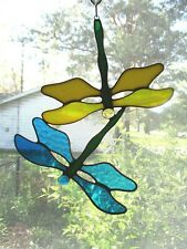 Handmade Stained Glass Dragonfly, Suncatcher(Df088)