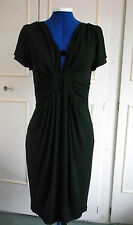 Short Sleeve V Neck Viscose Stretch, Bodycon Women's Dresses