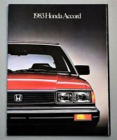 ORIGINAL 1983 HONDA ACCORD PRESTIGE SALES BROCHURE ~ 22 PAGES ~ 83HAP