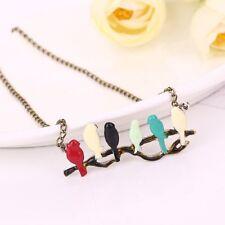 Fashion Charm Women's Necklaces Pendants Animal Birds Branch Cartoon Gifts