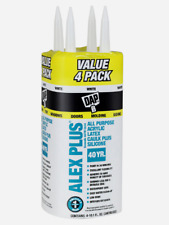 New!! DAP ALEX PLUS White Acrylic Latex All Purpose CAULK 10.1 oz. 4 PACK 18136