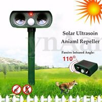 Solare Repellente Ultrasuoni Scaccia Gatti Cani Animali Sensori a Infrarossi PIR