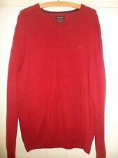Mens Wolsey !00% Lambswool Red V Neck Jumper Size XL