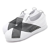 adidas Originals Superstar Slip On W White Black Women Slip On Shoes CG6013