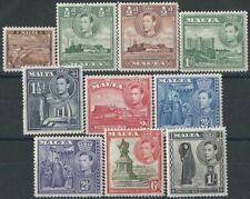 Colony George VI (1936-1952) Postage Malta Stamps (Pre-1964)