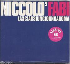 NICCOLO' FABI - Lasciarsi un giorno a Roma CDs SINGOLO  SANREMO 1998 SIGILLATO