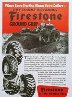 Firestone Ground Grip Tire 1947 Vintage Magazine Ad Engineering News Record