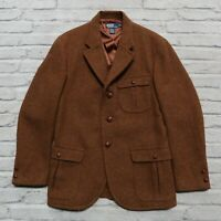Vintage Polo Ralph Lauren Wool Blazer Sport Coat Jacket Size M Brown