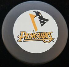 PITTSBURGH PENGUINS  NHL HOCKEY PUCK GIL STEIN INGLASCO OFFICIAL GAME PUCK LOGO