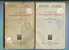 Battaglini Vassalli LA NUOVA LEGISLAZIONE PENALE Vol.I 2 Tomi Giuffrè 1946 Libri