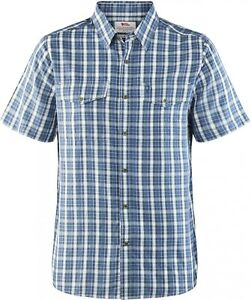 Fjäll Räven Abisko Cool Shirt Ss Men, short-Sleeved, Uncle Blue Size M