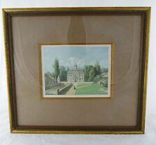 Schloss Arff- Alexander Duncker - Farblithografie um 1870, im Rahmen hinter Glas