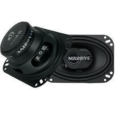 "Pair Massive Audio MX46 180 Watt 4x6"" 3-Way Coaxial Car Audio Speakers 4"" x 6"""