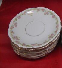 """Antique MZ Austria Habsburg China Vtg Porcelain 6"""" SAUCERS (8 AVAIL)"""