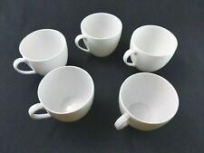 White Modern lot of 5 coffee tea Cups Schonwald fine Germany porcelain