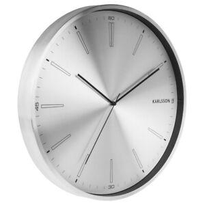 Karlsson Wanduhr Distinct silber – Die zeitlose Uhr für dein modernes Zuhause