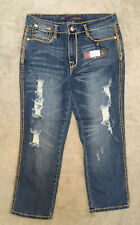 ED HARDY STRESSED JEANS by CHRISTIAN AUDIGIER, 29/27 UNUSED, BAGGED & TAGGED. #4