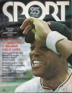 Vintage Sport Magazine, September 1971  25th Anniversary issue, HOF Willie Mays