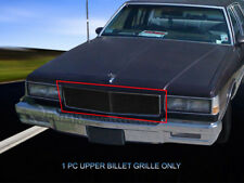 Black Billet Grille Front Main Upper Grill For 1986-1990 Chevy Caprice