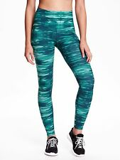 Old Navy Go Dry High Rise Printed Compression Legging - TEAL #5969
