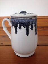 Vintage Mid Century Japanese Lava Drip Porcelain Ceramic Electric Teapot Hot Pot