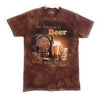 The Mountain Adult Unisex Beer Outdoor T-Shirt Tee M-L-XL-2X Answer is Beer NWT.