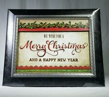 New We Wish You A Merry Christmas And A Happy New Year Framed Wall Decor