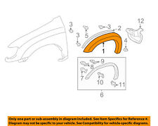 TOYOTA OEM Tundra-Front Fender Flare Wheel Well Arch Molding Left 758720C902