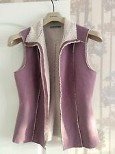 Velvet Ladies Beautiful Vest Gilet in Lilac Purple Size M/L Fab!