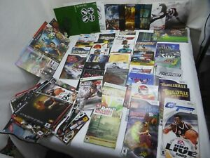 manuals and cover art lot wii gamecube ps2 ps3 xbox360