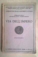 VIA DELL'IMPERO RICCI COLINI MARIANI 1933 STORIA ROMANA