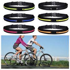 Sport Runner Waist Bag Running Belt Gym Money Phone Double/Signle Zip Adjustable