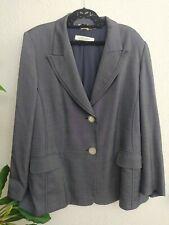 Marina Rinaldi Blazer Jacket Lana Wool Blend Pockets Size 31