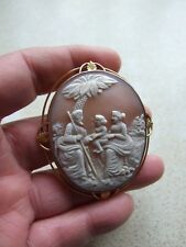 Antique Victorian Cameo Gold Brooch