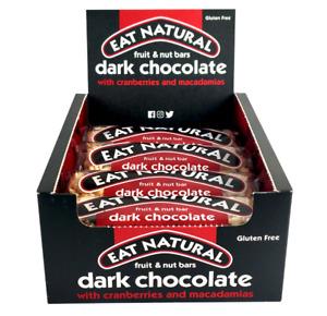 Eat Natural Bars -Dark Chocolate cranberries and macadamia 12 x 45g Gluten -Free