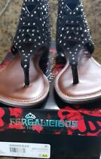 Fergalicious Women's Serenade Flats Thong Sandals - Black - Size 8M New with box